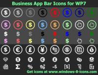 Business App Bar Icons for WP7 screenshot