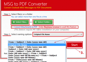 Convert multiple Emails to PDF from Outlook screenshot