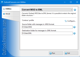 Convert MSG to EML for Outlook screenshot