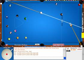 Flash 8 Ball Pool Game screenshot