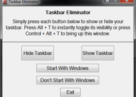 Taskbar Eliminator - Windows 8 Downloads