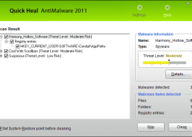 Quick Heal Virus Database screenshot