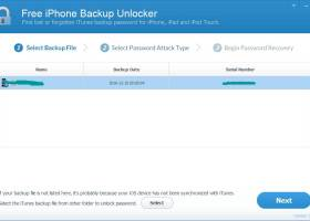 Free iPhone Backup Unlocker screenshot