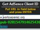 Get AdSense Client ID