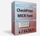 CheckPrixa MICR E13B Font