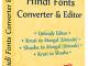 Hindi Fonts Converter and Editor