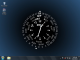 Blue Wheel Desktop Clock