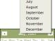 QuickMonth Calendar