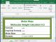 Molar Mass / Molecular Weight Calculator