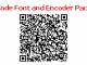 QR Code Font and Encoder Package