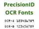 PrecisionID OCR A and OCR B Fonts