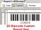 2D Barcode Custom Report Item